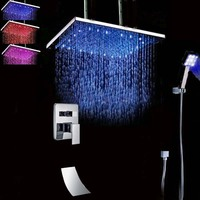 Wholesale And Retail Ceiling Mounted LED Square Rain Shower Head Huge 20