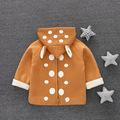 Baby boy Long Sleeve T-shirt  Hooded Sweatshirts for girl Pullover Christmas costume for girl Back Zipper Polka Dots Rabbit ears