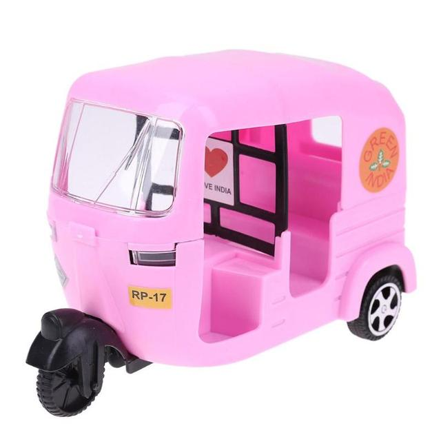 Pink Tricycle Car Toy Kids Gift For Pretend Play Dollhouse Accessory