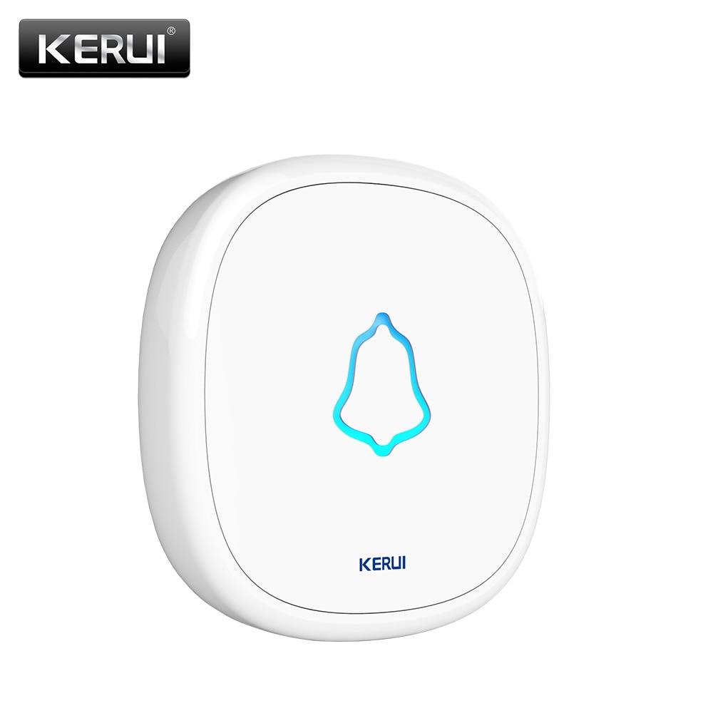 KERUI Waterproof Touch Doorbell Button Wireless SOS Emergency Button 433MHz Alarm Accessories For KERUI Doorbel Alarm System