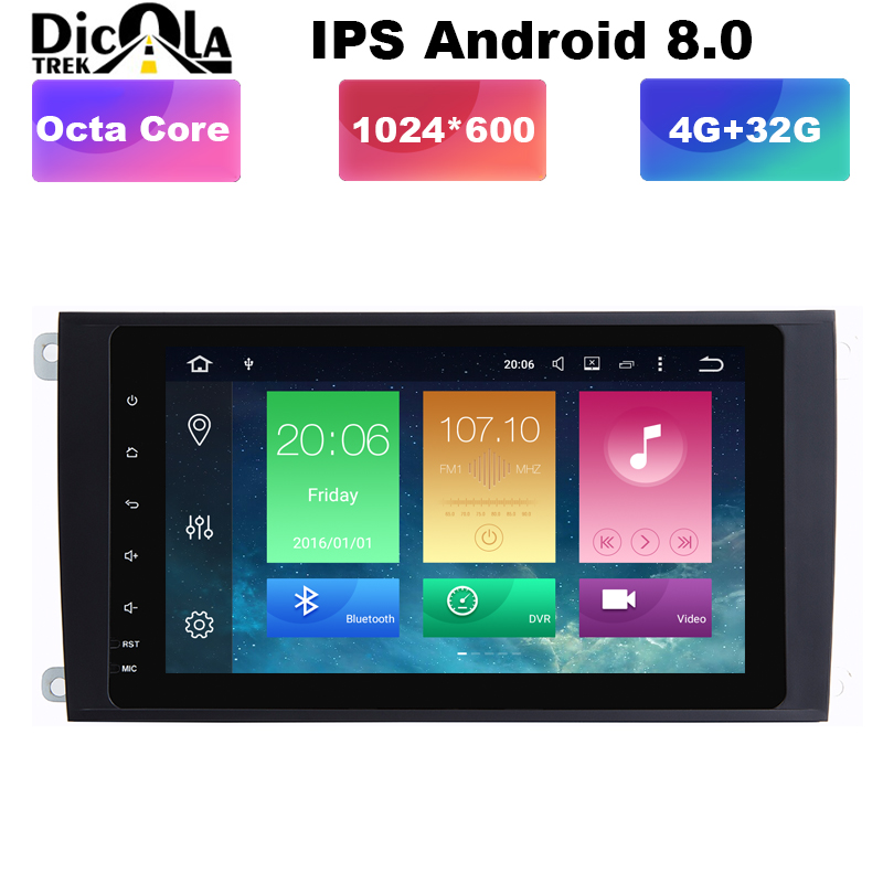 HD Octa Core 8 Android 8 0 Car DVD font b Player b font for Porsche