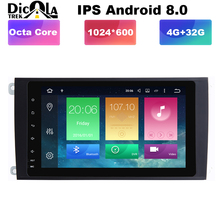 """HD Octa Core 8 """"Android 8.0 Lettore DVD Dell'automobile per Porsche Cayenne 2003-2010 Con Bluetooth unità di Testa 4G di RAM 32G ROM 3G/4G Wifi"""