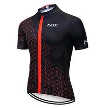 NW Велоспорт Джерси Топы летние гонки велосипедная одежда Ropa Ciclismo короткий рукав mtb велосипед Джерси рубашка Майо Ciclismo