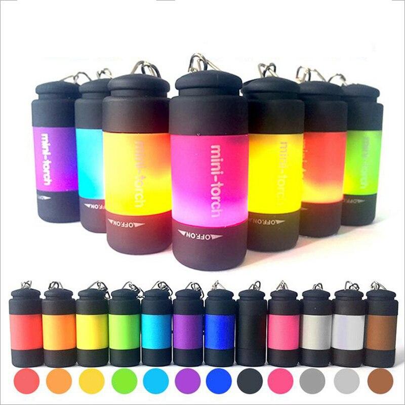 Lanternas e Lanternas 0.5 w 25lm multicolor mini-lanterna Modo de Mudança : Menos Zoom