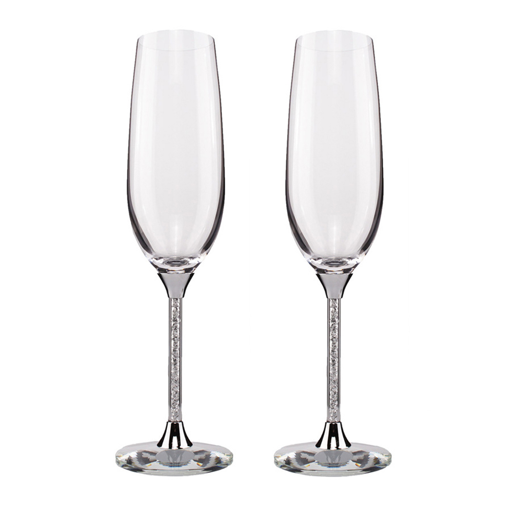 Keytrend Champagne Glasses Luxury K9 Crystal Toasting Flutes And