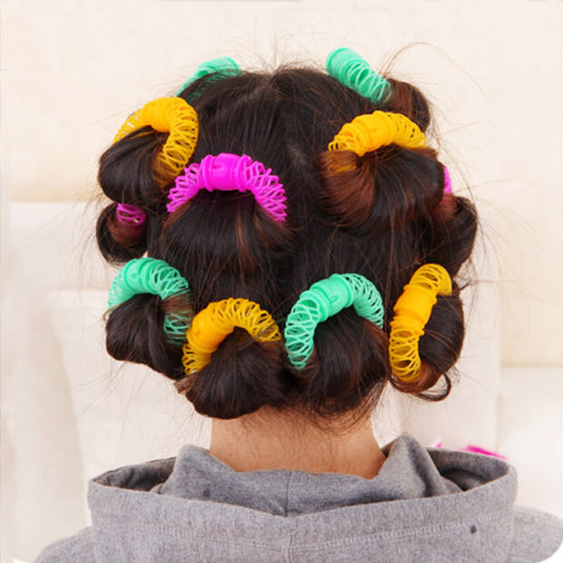 Image 5 - 8Pcs New Magic Hair Donuts Hair Styling Roller Hairdress Magic Bendy Curler Spiral Curls DIY Tool for Woman Hair Accessories-in Braiders from Beauty & Health