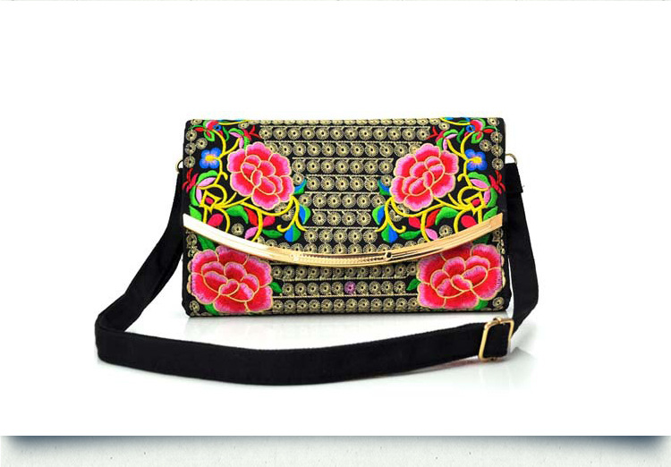 New National Style Embroidery Women Small Bags Embroidered Shoulder Crossbody Bags Top Vintage Shopping Carrier Purses 2019 New image