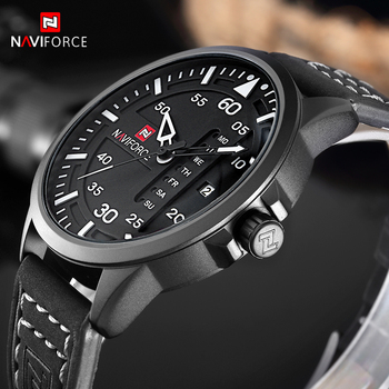 NAVIFORCE Fashion Casual Mens Watches Top Brand Luxury Leather Business Quartz Watch Men Wristwatch Male Clock Relogio Masculino image