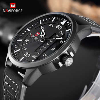 NAVIFORCE Fashion Casual Mens Watches Top Brand Luxury Leather Business Quartz Watch Men Wristwatch Male Clock Relogio Masculino - DISCOUNT ITEM  48% OFF All Category