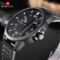 NAVIFORCE Fashion Casual Mens Watches Top Brand Luxury Leather Business Quartz Watch Men Wristwatch Male Clock