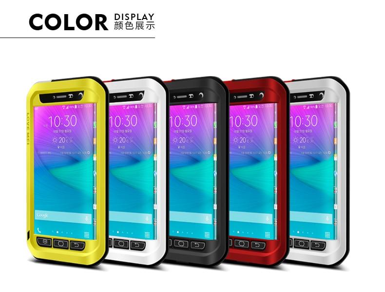 imágenes para Amor Mei Potente prueba de Choques Impermeable De Aluminio Del Caso Para Samsung Galaxy Note N9150 Edge Funda + paquete + envío libre