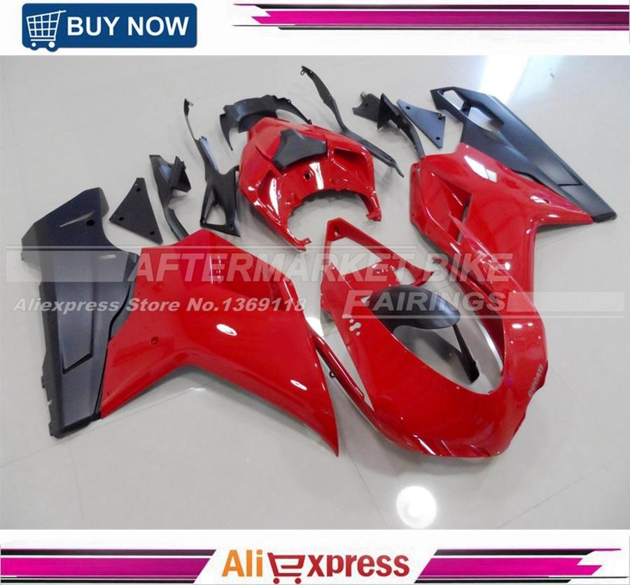 Глянцевый красный инъекции мотоцикл Кузов для Ducati 848 1098 1198 ABS зализа 100% Посадки