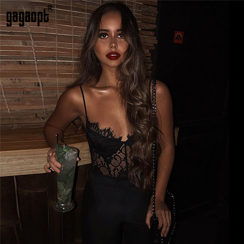Gagaopt Jumpsuit Overalls Bodycon Streetwear Hollow-Out Women Summer