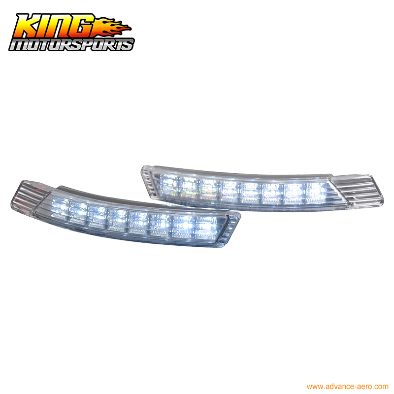 For 2011-2012 Kia Forte LED DRL Daytime Running Driving Fog Lights Lamps USA Domestic Free Shipping Hot Selling