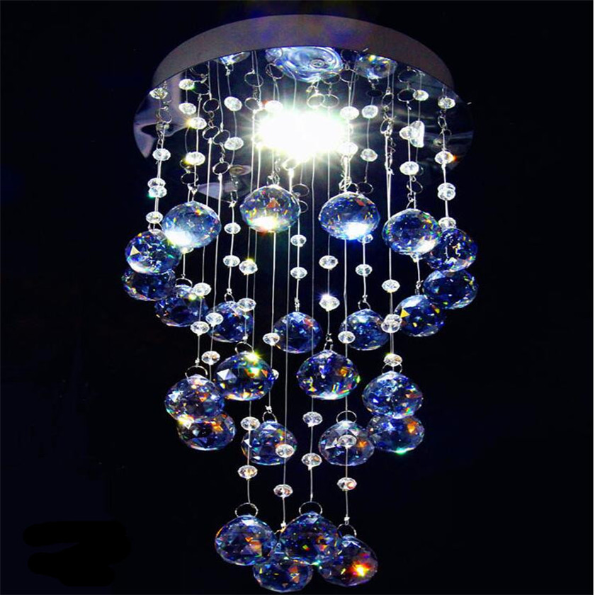 Amber Crystal Ceiling Lamp Led Aisle Lights Plafonnier Corridor Balcony Lighting Luster Luminaria teto Cristal For Home Decor led crystal light aisle small vestibule spiral staircase chandelier lamp corridor hallway lights balcony aisle lighting