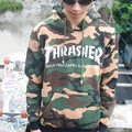 Pull Thrasher Camouflage Hoodie Men Hiphop Thrasher Magazine Sweatshirt Swag Trasher Flame Hoodie Sweatshirt Thrasher Clothing
