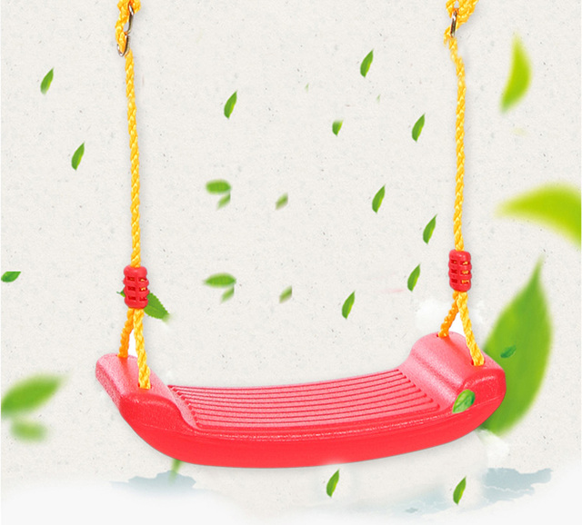 Child Outdoor Patio Swings Belt Seat Toys Environmental Plastic