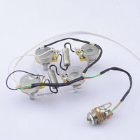 High Quality Electric Guitar Passive Pickup Wiring Harness 4x CTS 500K Pots 1x Switchcraft Jack