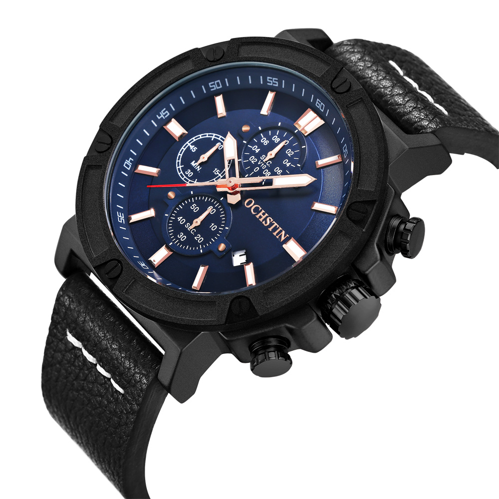 OCHSTIN Watch Men Sport Quartz-watch Luxury Brand Chronograph Military Wrist Watch Relogio Masculino Clock Male Wristwatch
