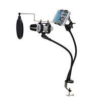 1 Pcs Microphone Suspension Boom Arm Support Mount Set Enregistrement de Soutien le MV pour Mobile Téléphone Avec Clip Mic Stand Montage ensemble