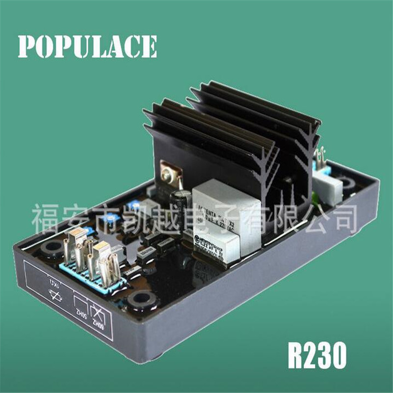 Generator Parts AVR R230 Automatic Voltage Regulator for New Generator with fast shipping 2pcs lot automatic voltage regulator avr sx460 for generator 12972 and r230