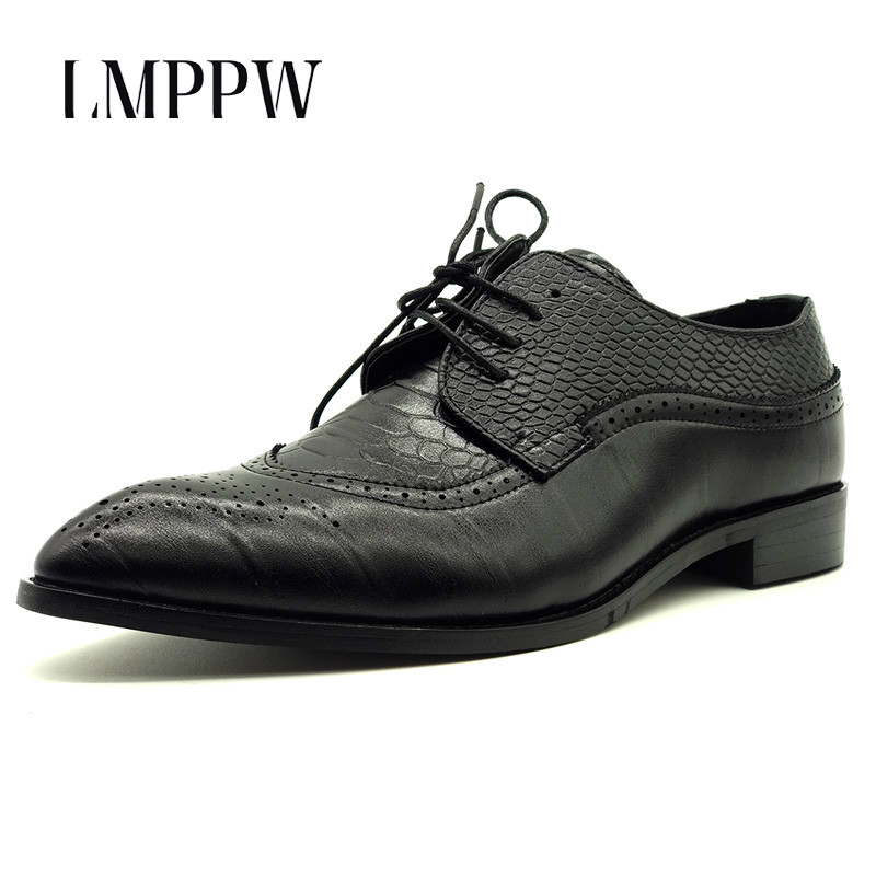 Top Quality Fashion Bullock Mens Shoes Breathable Business Casual Oxford Shoes Big Size38-48 Man Flat Shoes Zapatos Hombre 2A