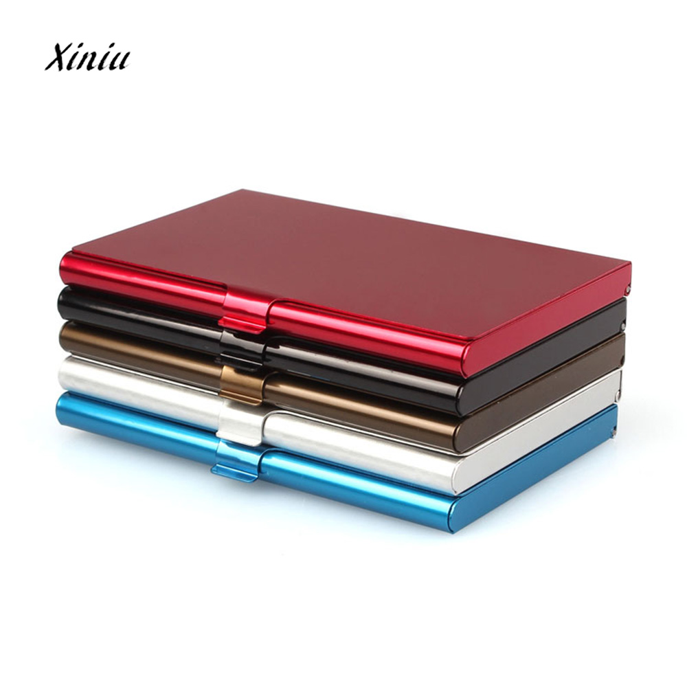 New Creative Business Card Case Stainless Steel Aluminum Holder Metal Box Cover Credit Business Card Wallet Card Holder elegant metal business card case