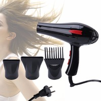 220V EU Plug 3000W Electric Hair Dryer Low Noise Powerful GW3900 Blower AC Motor With Air Collecting Scattering Nozzle