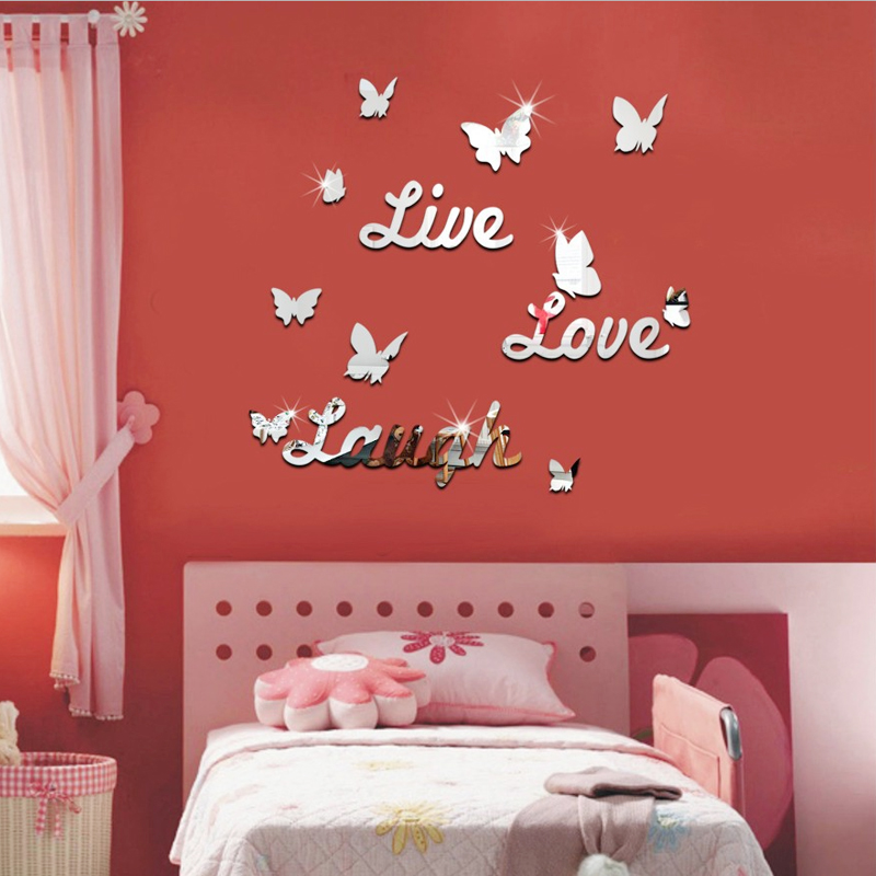 top sale acrylic mirror sticker home decoration modern style ...