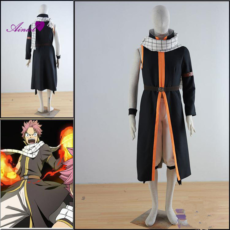 Ainiel Fairy Tail Cosplay Costumes Etherious Natsu Dragneel ensemble Complet cosplay uniforme Pour Hommes Hollaween Party Cosplay Costume