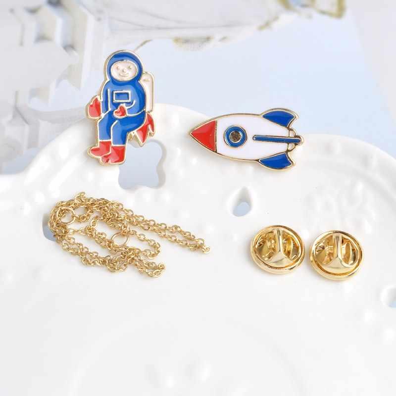 Броши Вселенная булавки шлем космонавта Кит робот X-men Planet Lightning жесты бейджи нашивки из коллекции