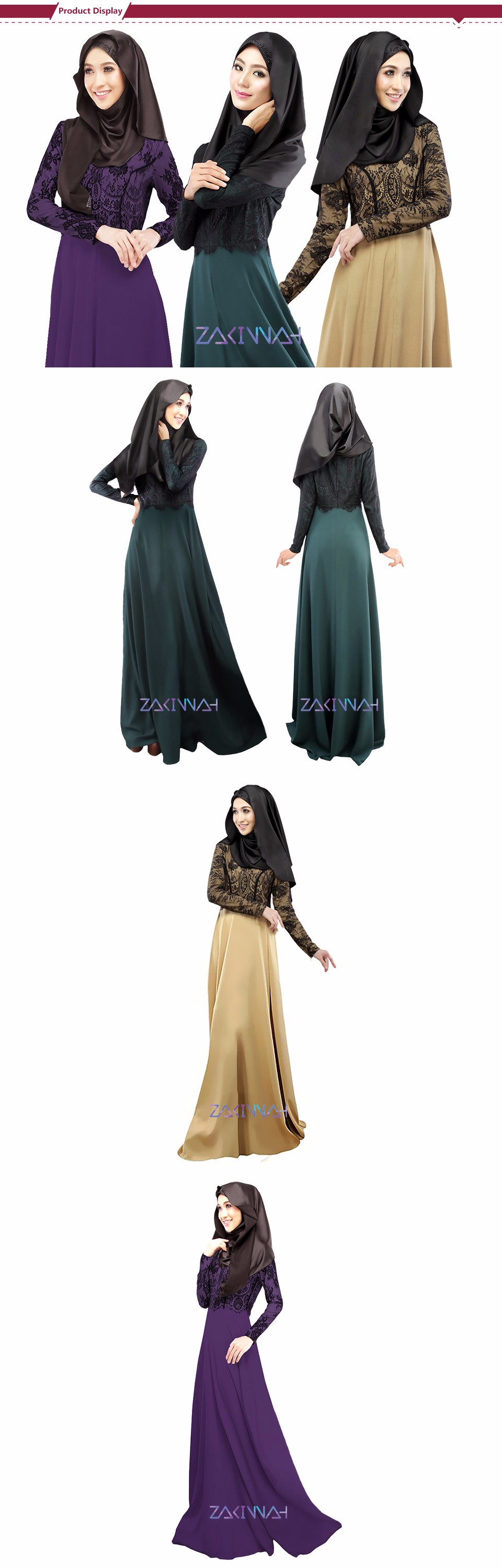 Ladies noble islamic dress