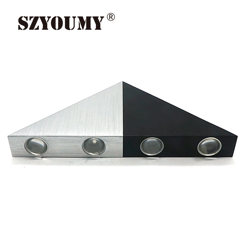 Obliging Szyoumy 5w 8w Aluminum Triangle Led Wall Lamp Ac90-265v High Power Led Modern Home Lighting Indoor Outdoor Party Disco Light Rapid Heat Dissipation Led Indoor Wall Lamps Led Lamps