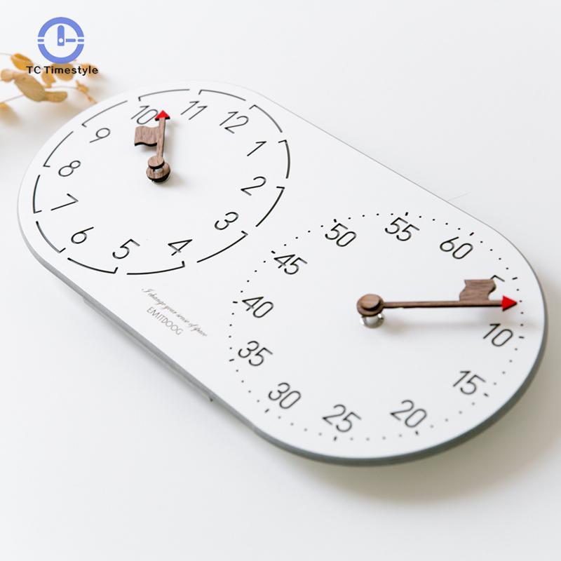 Horloge nordique salon mode créative muet pendule montres moderne minimaliste chambre décor à la maison horloges murales