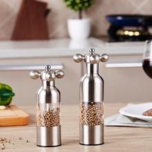1pcs Kitchen Creative gadgets kitchen knife Pepper mill Black Pepper mill Garlic mill Spice the grinder
