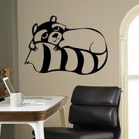 מדבקות קיר האמנות ויניל מדבקה הטבע פראי דביבון פנים בית עיצוב חדר שינה סלון דקור מדבקות דלת כלי בית תפאורה