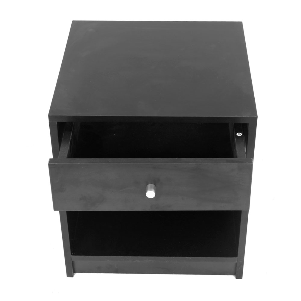 Black Night Stand Bedside Cabinet with Drawer Dropshipping