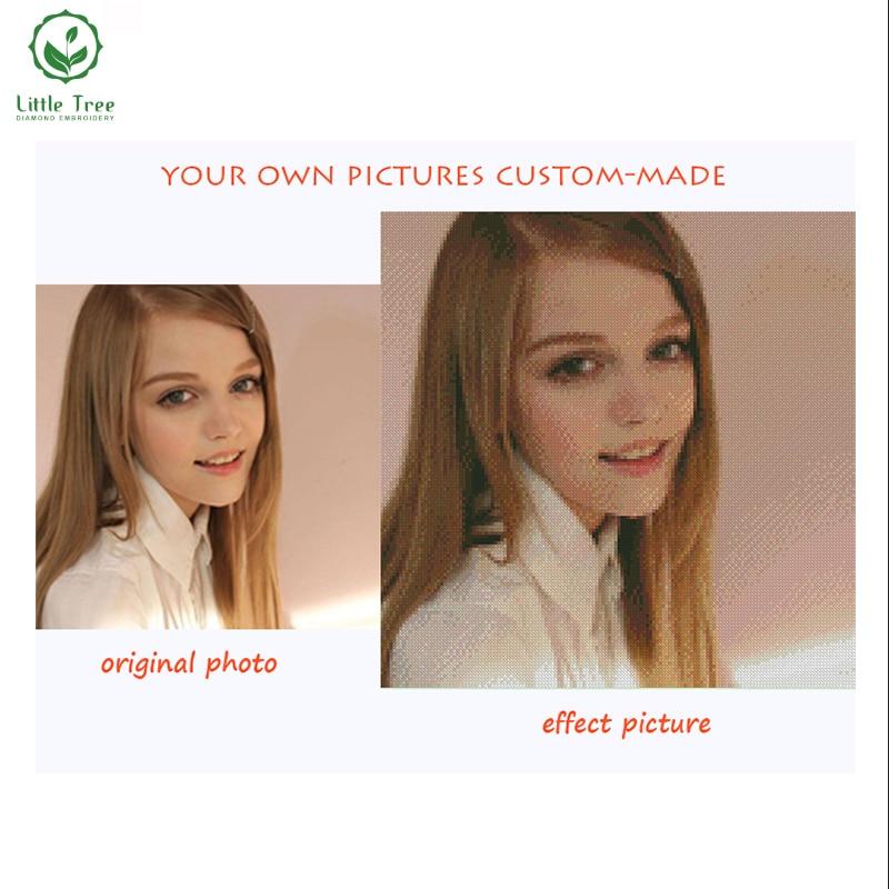 Haz tu propia pintura de diamantes 3D DIY 100% taladro cuadrado completo punto de cruz bordado diamantes de imitación fotos personales personalizadas