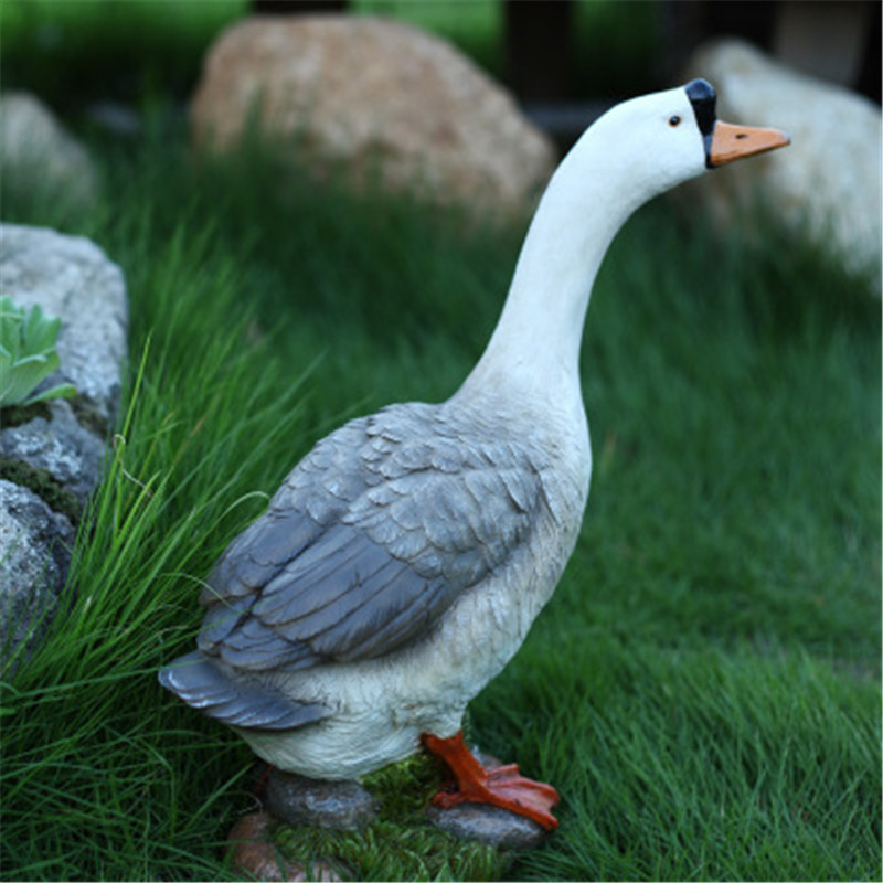 Outdoor Landscape Architecture Ornaments Simulation Animal Domestic Goose Farmhouse Style Decoration G2419Outdoor Landscape Architecture Ornaments Simulation Animal Domestic Goose Farmhouse Style Decoration G2419