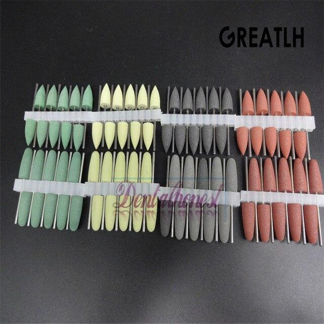80 piezas pulidoras dentales asilicono Base de resina Burs de pulido crilico 2,35mm suministros dentales
