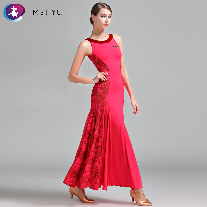 Novelty & Special Use Ballroom Mei Yu S9022 Modern Dance Costume Women Ladies Dancewear Waltzing Tango Dancing Dress Ballroom Costume Evening Party Dress Factories And Mines