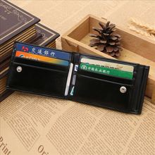 2016 New Arrivals Luxury Oil Wax Cow Leather Multi function Men Dollars Money Clip Hot Brand