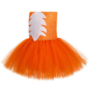 Image 2 - Cute Fox Tutu Dress Outfit Toddler Baby Girls Birthday Party Dress Crazy Animal Nick Halloween Carnival Cosplay Costume for Kids