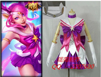 full set of lol new Skin Star Guardian Lux cosplay costume for girls Custom made