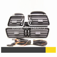 OEM For VW CC Passat B6 B7 R36 refit the new piano black air conditioning vent fresh air nozzle +cable