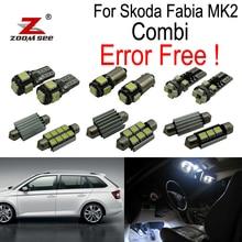 ZOOMSEEZ 17 шт. номерной знак светильник светодиодный лампы Интерьер плафон комплект для Skoda Fabia 2 MK2 MK II Combi Estate универсал (2008-2014)
