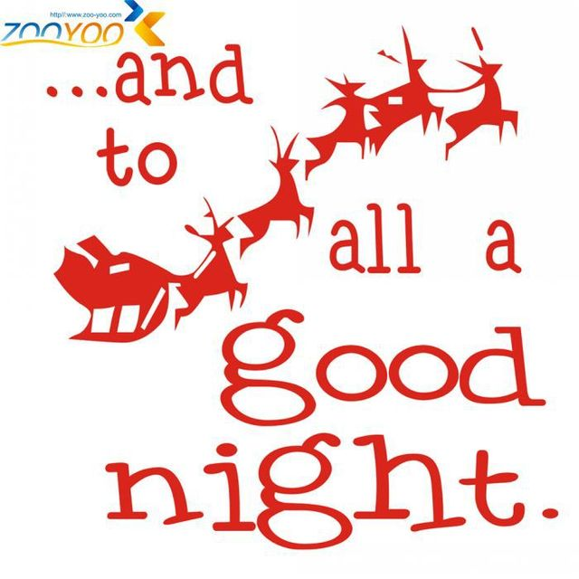 zooyoo santa claus all a good night christmas christmas wall stickers glass stickers merry christmas wall - Merry Christmas To All And To All A Good Night