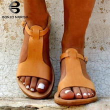 BONJOMARISA Brand New Fashion Plus Size 34-48 Rome Women Shoes Woman Casual Party Hot Sale Summer Sandals 2019 Female