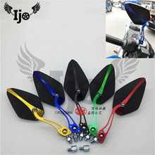 colorful decal parts motorbike accessories scooter rearview mirror unviersal screw 8MM 10MM moto mirrors motorcycle rear-view