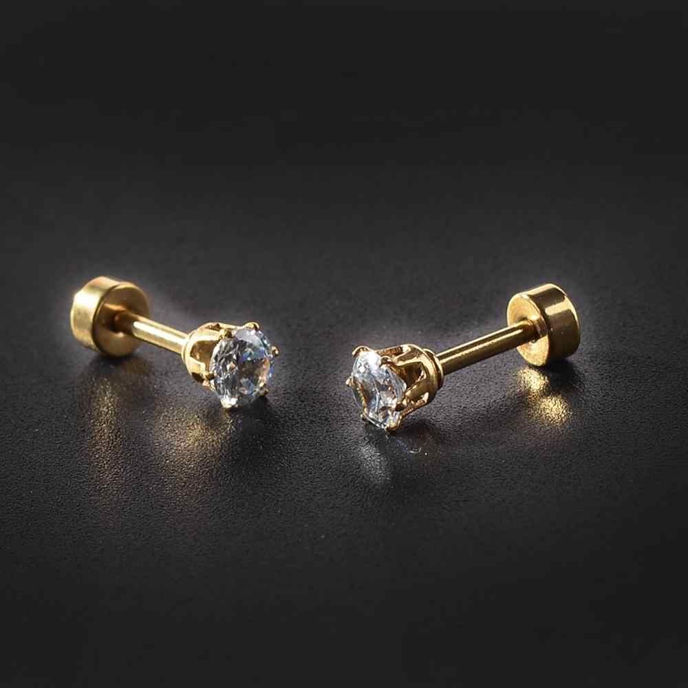 3-7mm זירקון אוזן פירסינג ייחודי עיצוב זהב נירוסטה טוויסט האף שפתיים טבעת האף הרבעה פירסינג תכשיטים לנשים